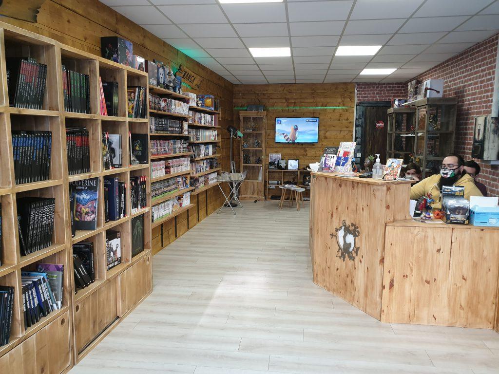 entrée de la librairie